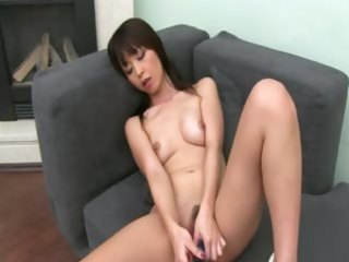 chinese gal can unfathomable fucking on sofa