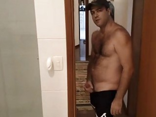 male shows off his booty and his wang