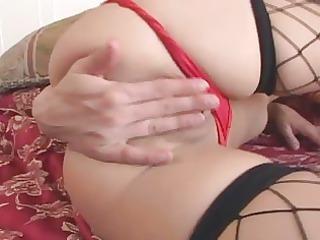 leah luv masturbates in nylons
