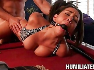 hawt arse brunette hair acquires aroused by being