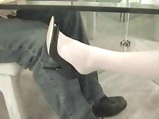nylon feet seduction