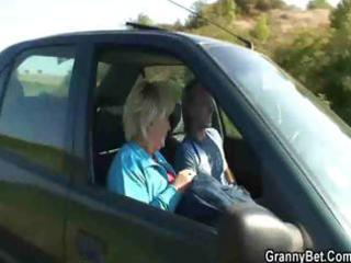 old doxy acquires nailed in the car by a stranger
