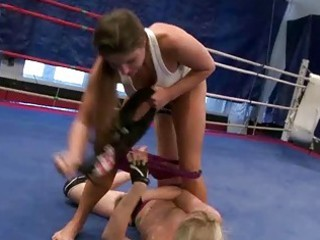 hawt beauties in wild lesbo wrestling