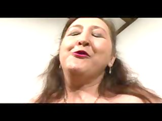 plump aged german lady munches on rods and
