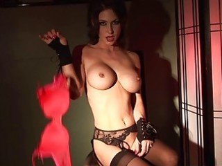 breasty and pierced jessica jaymes undresses down