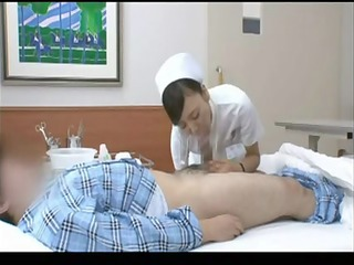 sexually excited japanese nurse riding a patient