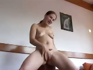 german single hotty inge cumming on daybed