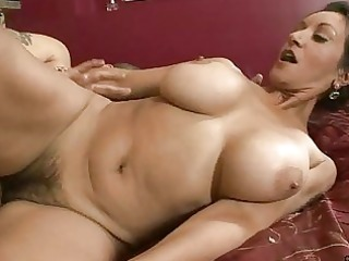 large tit cougar cum-hole pounding