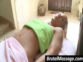 her small-breasted slim juvenile body was oiled