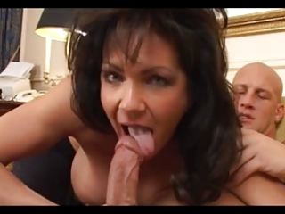 large boobed brunette hair aged receives drilled