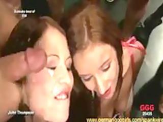 (bukkake compilation) european gals taking hawt