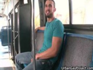 males receive picked up by a bus and receive
