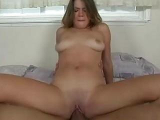 skyla banks receives a warm load on her large