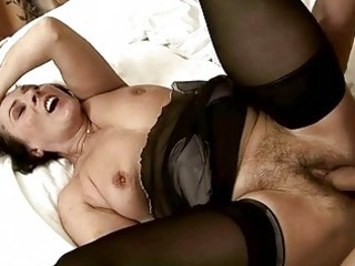 sexy shaggy granny getting drilled beautiful hard