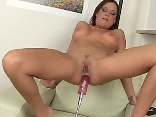 sophia pounds a sex-toy machine