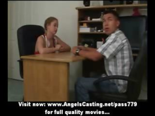 redhead cheerleader does oral sex for nerdy lad
