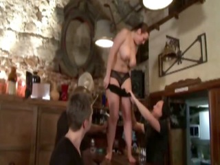 manon team-fucked in a cafe