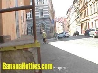 upskirt wet crack at the public street