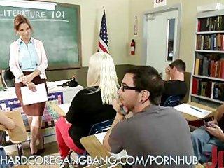 hawt teachers bizarre double penetration