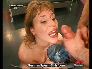 dirty bukkake loving doxy receives overspread