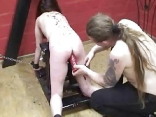 extraordinary serf fist drilled by her master