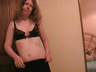 aged lady undresses