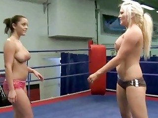 sexy breasty angels fighting