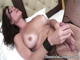 tgirl acquires nasty with a dark lad