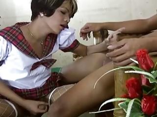 legal age teenager oriental ladyman receives hard