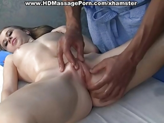 youngs golden-haired acquires in massage fuck