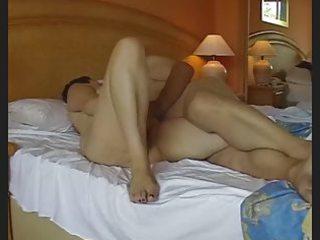 aged exhibitionist pair masturbating then