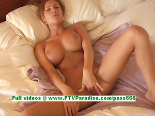 amy breasty fleshly golden-haired woman fingering
