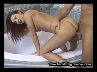 ukrainian redhead nailed in washroom