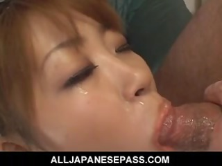 small maid gets sandwiched between 1 dicks