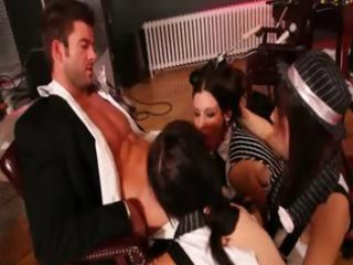 mafia lustful hotties banging with large boss