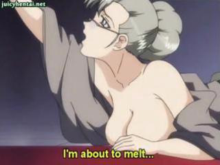 youthful anime hottie masturbates with the balls