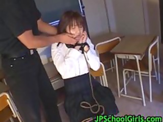 cute oriental schoolgirl drilled hard part9