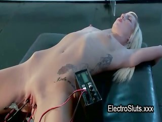 clamped and electro shocked pussy castigation