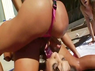great group anal enjoyment by the swimmingpool