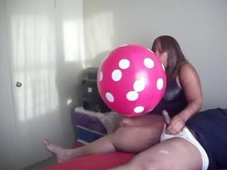 hawt big beautiful woman balloon cook jerking