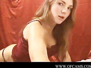 alluring cutie masturbates for webcam