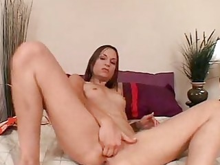 amber rayne biggest fake penis in her rectal hole