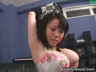cute oriental hottie with giant juggs acquires