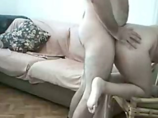 excited obese amateurs fucking at home