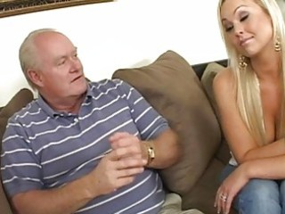 fascinating breasty golden-haired wife engulfing