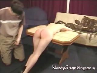Kinky couple in light bondage