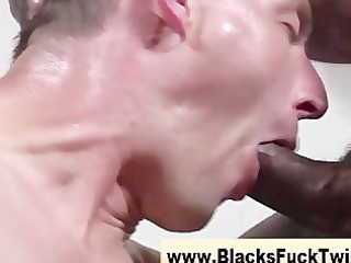 twink sucks and copulates interracial weenie