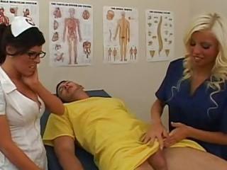 marvelous breathtaking nurses engulfing wang and