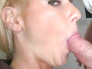 tiny blond blows wang acquires drilled