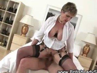breasty aged brit receives a jizz flow